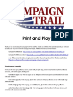 Campaign Trail Print and Play