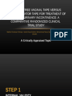 PPT CAT Tension-free vaginal tape versus transobturator tape for treatment of stress urinary incontinence.ppt