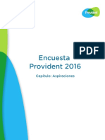 Encuesta Provident 2016 - Capítulo Aspiraciones
