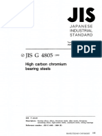 JIS G4805:1999 High Carbon Chromium Bearing Steels