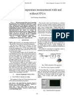Remote Temperature Measurement With and Without FPGA