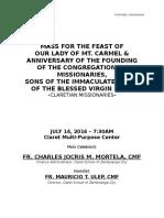 First Communion Script