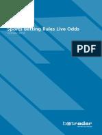 Betradar Sports Betting Rules