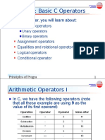 Chapter4 Basic C Operators (1)
