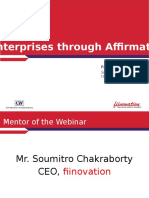 Fiinovation Webinar on Social Enterprises Through Affirmative Action