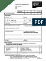 14.1 HWU Postgraduate App Form