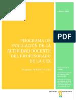 Docentia Universidad de Extremadura