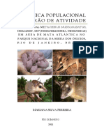 Dinâmica populacional e padrão de atividade do marsupial Metachirus nudicaudatus, Desmarest, 1817 (Didelphimorphia, Didelphidae) em área de Mata Atlântica no Parque Nacional da Serra dos Órgãos, Rio de Janeiro, Brasil