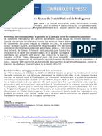 FAO : ORGANISATION DES NATIONS UNIES POUR L'ALIMENTATION ET L'AGRICULTURE, Codex Alimentarius : dix ans du Comité National de Madagascar, Antananarivo,FAO, 2016, 1p
