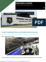 El Beta Financiero