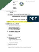 Epreuve CEMAC CTRL Ext Presentation CEMAC 2