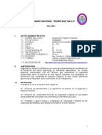 Silabo Seguridad e Higiene Industrial 2010-II