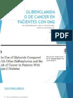 Uso de Glibenclamida y Riesgo de Cancer En