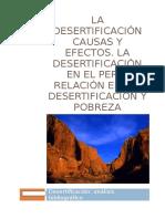 La Desertificación Causas y Efectos