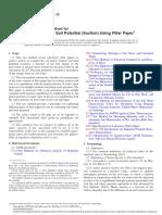ASTM D5298-10 - Ensaio de Sucção