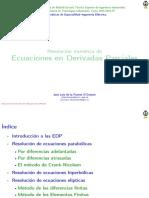 Ecuaciones Derivadas Parciales 2016