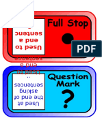 Punctuation Posters Sp