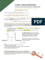 Motors and Generators - Syllabus Notes - Daniel Wilson.pdf