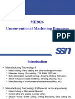 ntroduction to Unconventional Machining Processes