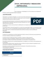 Taller- Gramática, Ortografía y Redacción Empresarial