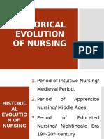 Historical Evolution of Nursing