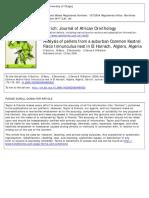 Analysis of Pellets From a Suburban Common Kestrel. Souttou Et Al 2006