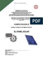 Análisis Sistémico de Objeto Técnico El Panel Solar