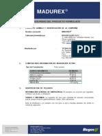 MSDS MADUREX - 0114