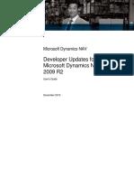 Developer Updates for Microsoft Dynamics NAV