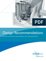 Design Recommendations - For Pump Stations With Large Centrifugal Flygt Wastewater Pumps