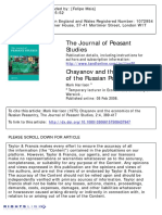 Chayanov and Russian Peasantry