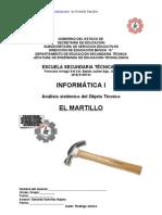 Análisis Sistémico de Objeto Técnico del Martillo