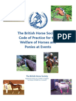 BHS Code of Practice for the Welfare of Horses and Ponies at Events