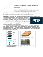 RECENT ADVANCES IN PIEZOCOMPOSITE MATERIALS FOR ULTRASONIC TRANSDUCERS