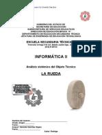 Análisis Sistémico de Objeto Técnico La Rueda
