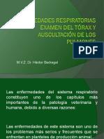 06 ENFERMEDADES RESPIRATORIAS Examen Del Tórax y Auscultación De