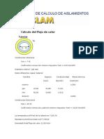Cálculo Del Flujo de Calor Con PPR