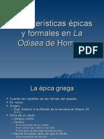 Características épicas y formales en la Odisea