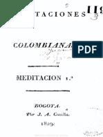MEDITACIONES COLOMBIANAS