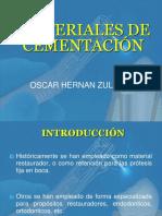 Materiales de Cementación Definitiva y Provisional
