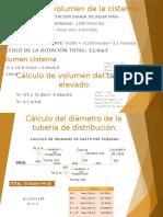 CÁLCULOS DE VOLUMEN DE SISTERNA