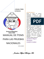 Manual de Ítems Para Las Pruebas Nacionales 4to Media