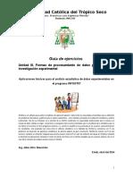 Unidad III Procedimientos Para Analisis Estadisticos