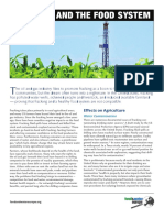 Food and Water Europe Report Fracking and the Food System
