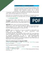 HTML Para Formularios y Js Para Servidores