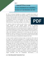 Gobierno de Arturo Araujo