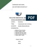 Estadística Río Quilcay Trabajo Final