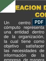 Presentacion Creacion de Centros de Computo - Especificaciones Tecnicas
