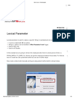 3. Lexical Parameter