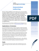 Managing Implementation of Structured Authoring